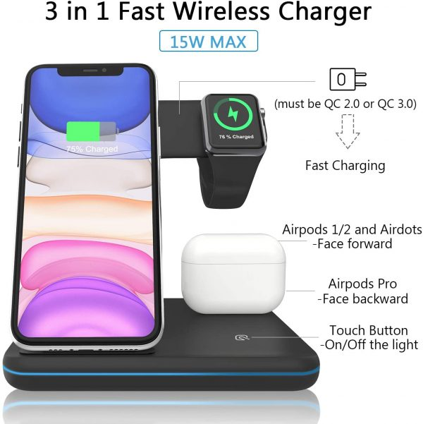 3 in 1 wieless charger